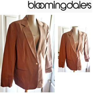 Bloomingdale's brown cotton blazer. Sz 16